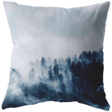 Foggy Forest Throw Pillow - Wild Lifestyle Adventures