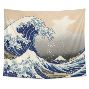 The Great Wave Kanagawa Tapestry Wall Hanging - Wild Lifestyle Adventures