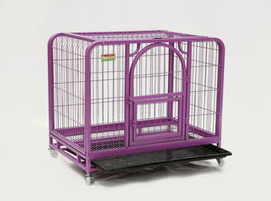Dog crate with one door in purple