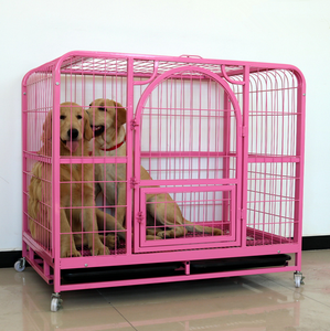 Dog crate with one door in pink