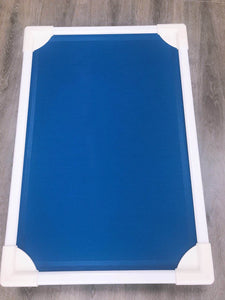 Elevated Pet Bed- Small Blue
