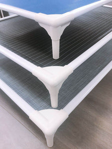 Elevated Pet Bed- Medium black and white stripe