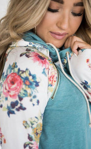 Ampersand Ave DoubleHood - Teal Floral