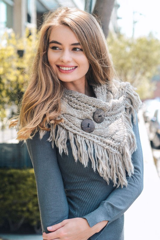 Winter Warmth Infinity Scarf - Mocha
