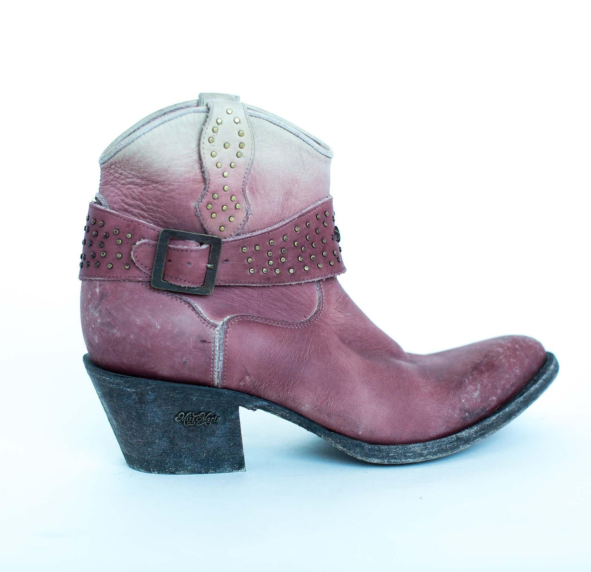 Miss Macie Boots Inspired Collection - Fine n' Dandy in Cream/Blush