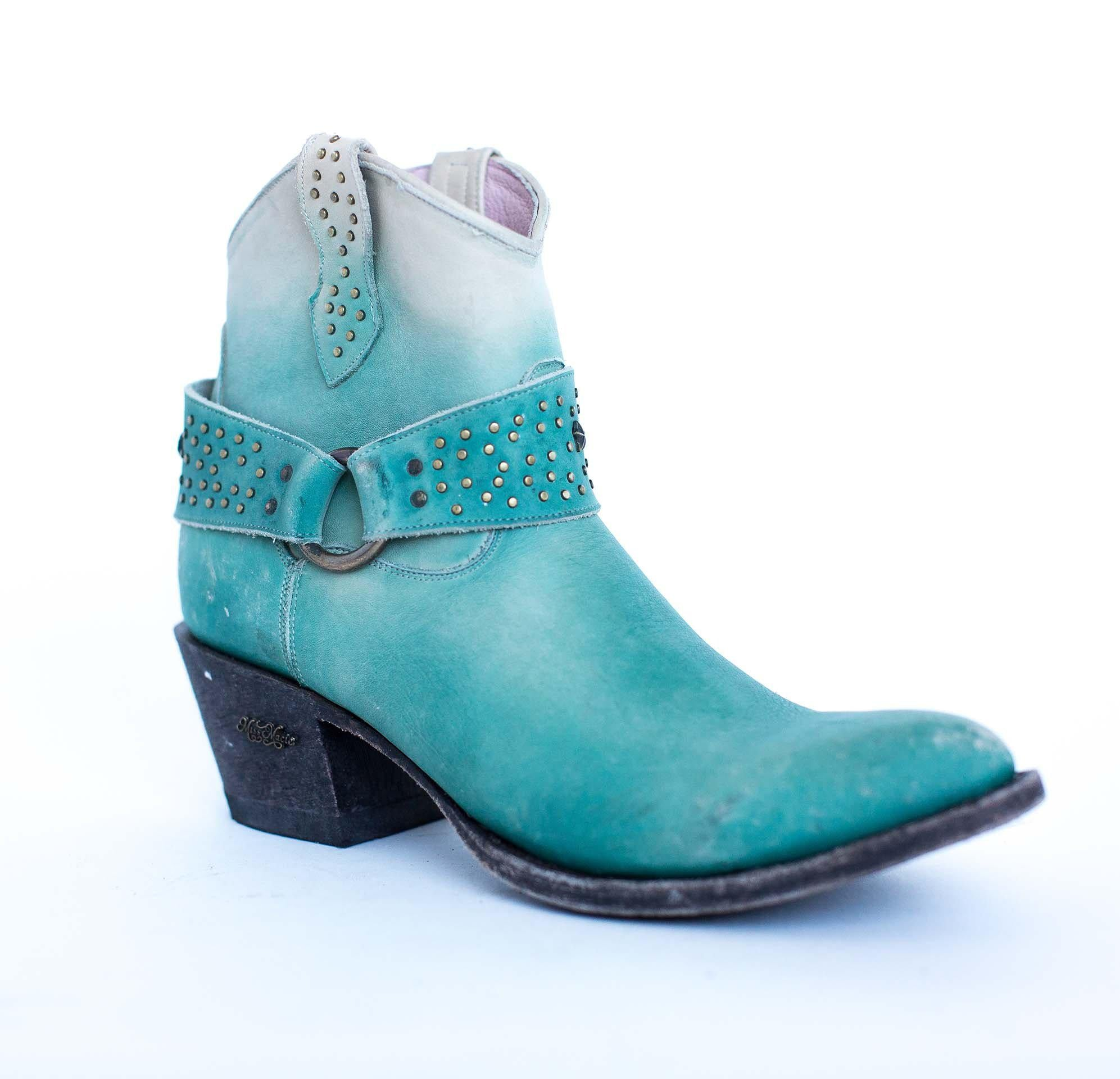 Miss Macie Boots Inspired Collection - Fine N Dandy in Turquoise
