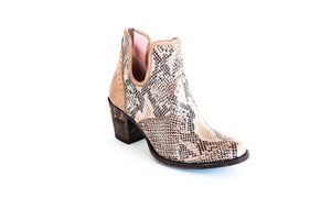 Miss Macie Boots Faith Collection - Honey Hush in Snake Skin