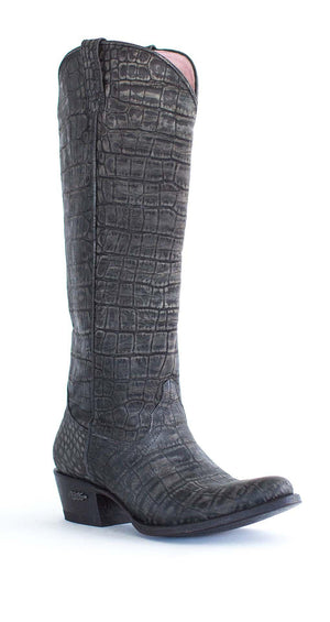 Miss Macie Boots Inspired Collection - What a Croc in Black