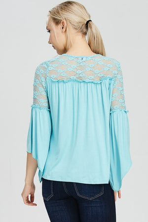 Looking Fine In Lace - Sky Blue