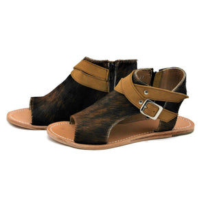Hair on Hide Sandal - Brindle