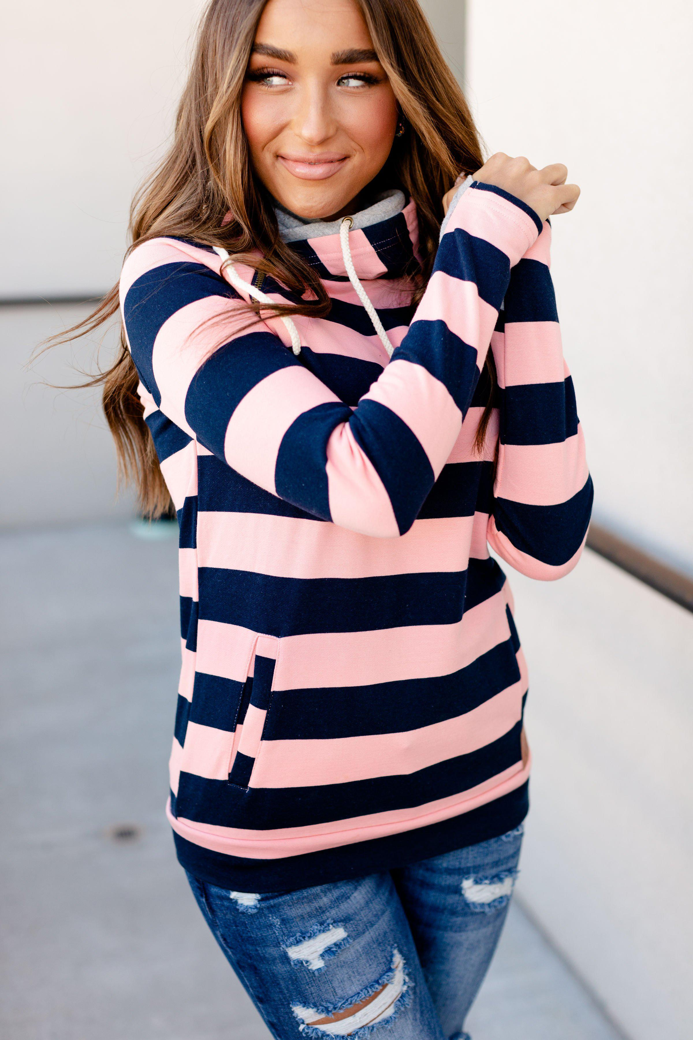 Ampersand Ave Doublehood Sweatshirt - Set Sail
