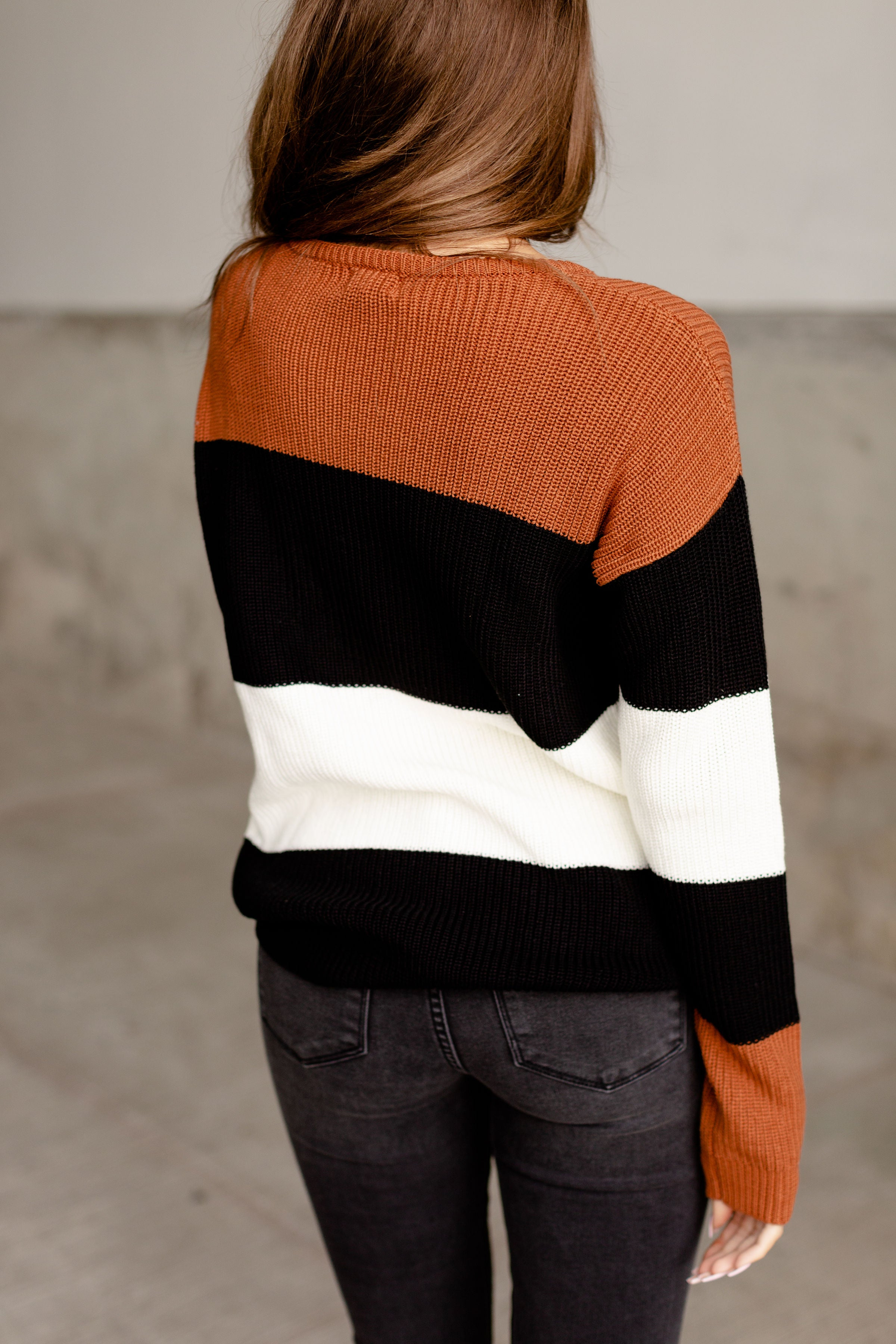 Ampersand Ave Chunk Sweater in Rust