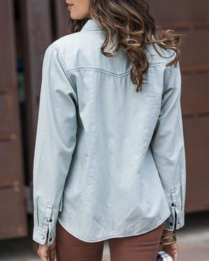 Everyday Chambray Shirt~Regular and Curvy Collection