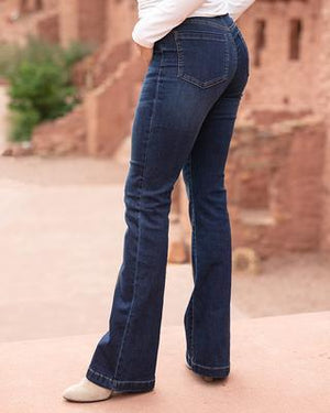 Jessica Flare Jeggings - Dark Wash