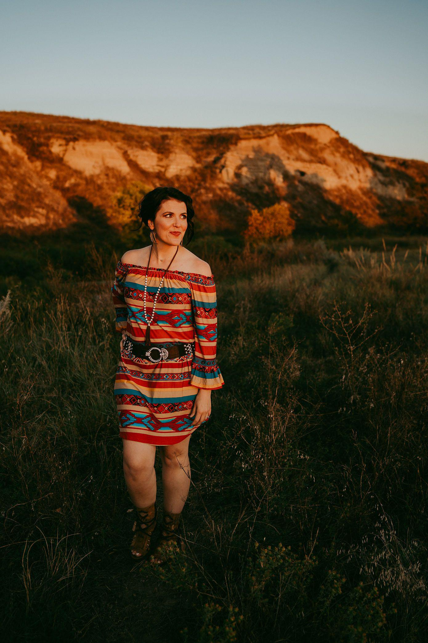 Miss Mae Serape Dress
