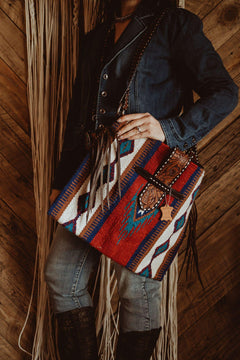 Tally-Ho Belted Saddle Blanket Tote