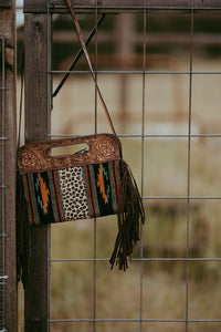 Saddle Blanket and Leopard Clutch