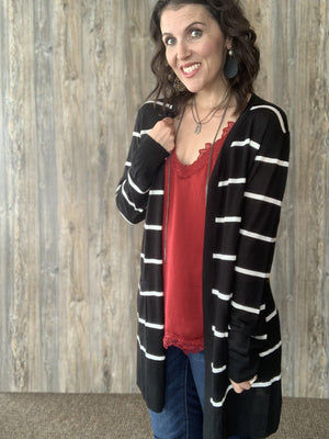 Black and White and Cute All Over Cardigan