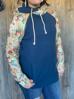 Ampersand Ave Doublehood Sweatshirt - Late Bloomer