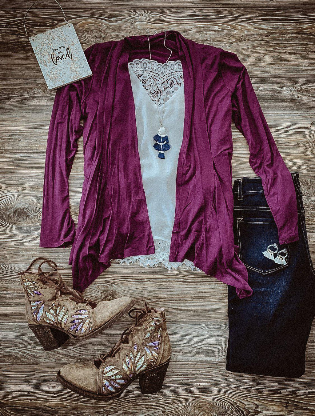 Dreamy Draped Front Cardigan~Curvy
