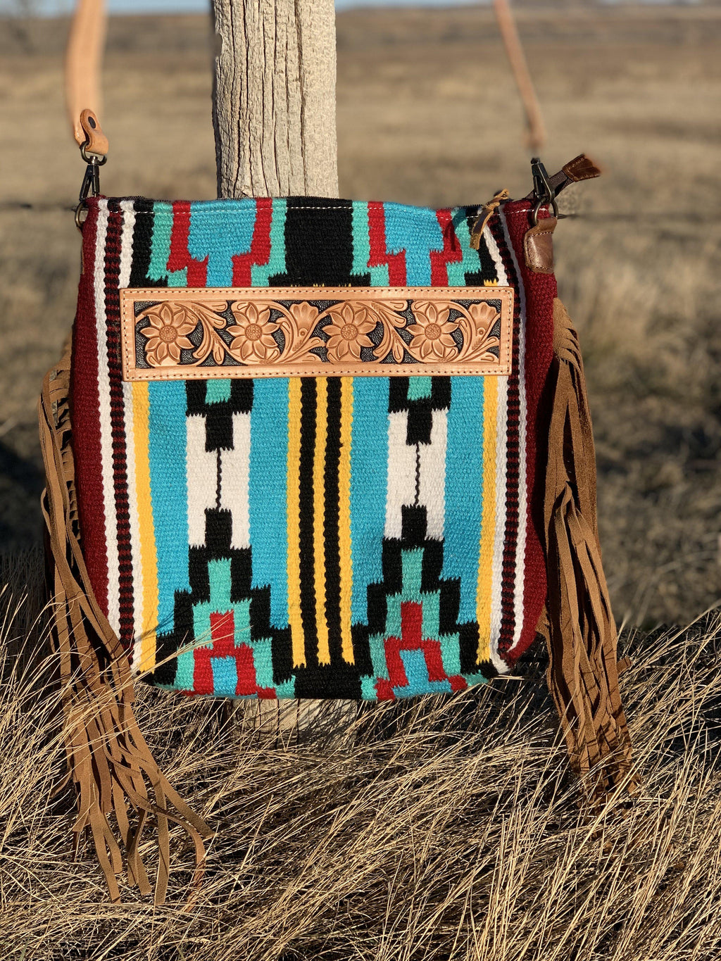 The Fringed Bandero Saddle Blanket Bag
