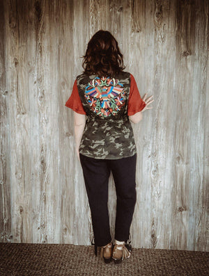 The Tatum Camo Embroidered Vest