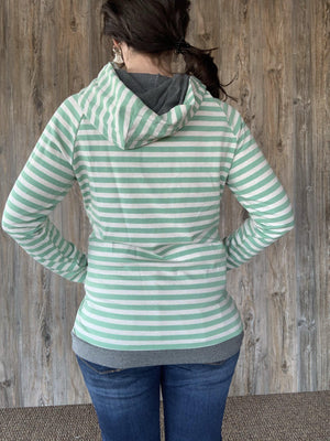 Ampersand Ave DoubleHood - Mint Stripe