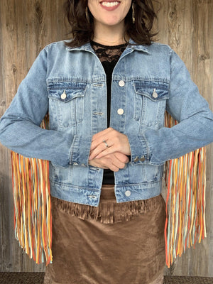 Rockin' that Denim & Fringe Jacket