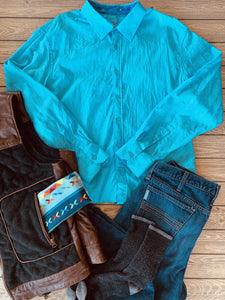 Men's Turn It Up Turquoise Button Up Shirt
