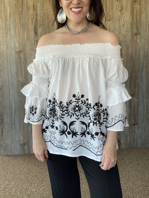 White Off the Shoulders Top