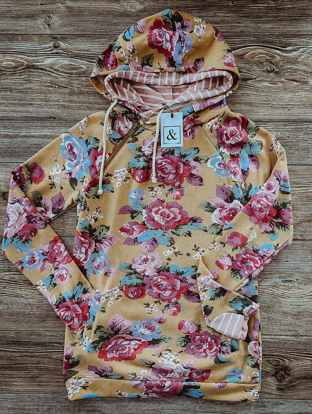 Ampersand Ave DoubleHood - Blooming Florals