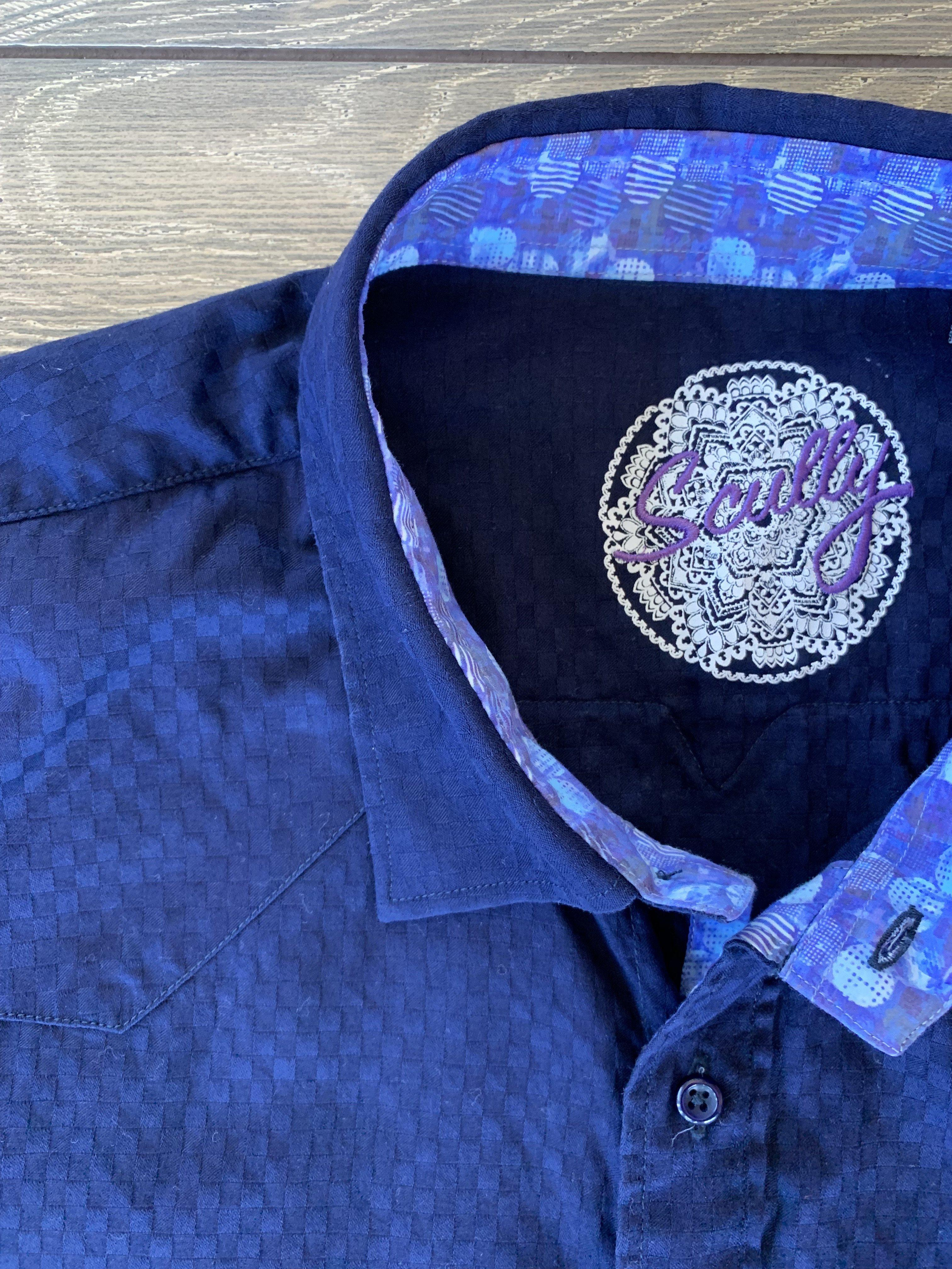Men's to the 9's Navy Button Up Shirt