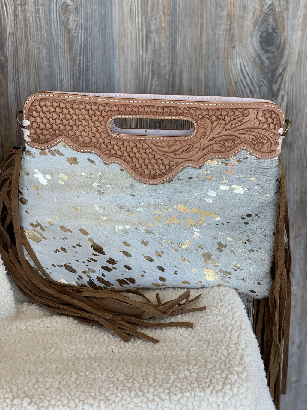 Shimmering Cinch Handbag
