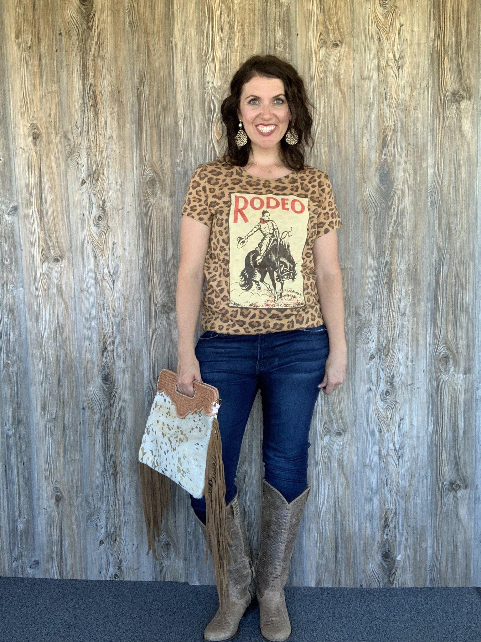Leopard Rodeo Tee