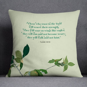 Renew Your Strength — Audubon Birds Throw Pillows