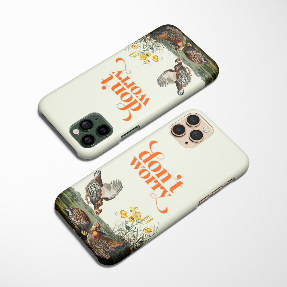 Don't Worry — Audubon Birds iPhone Case