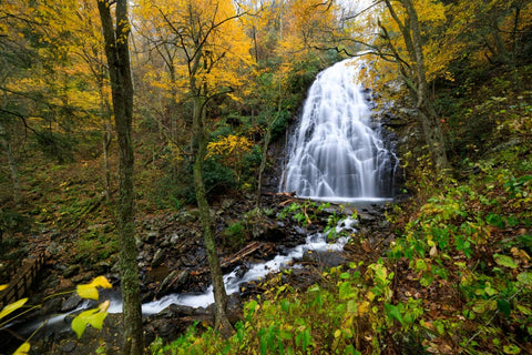 Crabtree Falls Autumn NC Waterfall