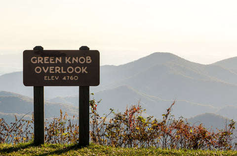 Green Knob Overlook on the Blue Ridge Parkway