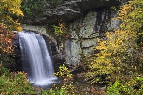 Looking Glass Falls in Autumn in North Carolina