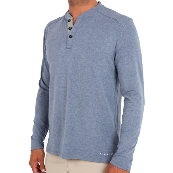 Free Fly Men's Bamboo Flex Henley - Final Sale
