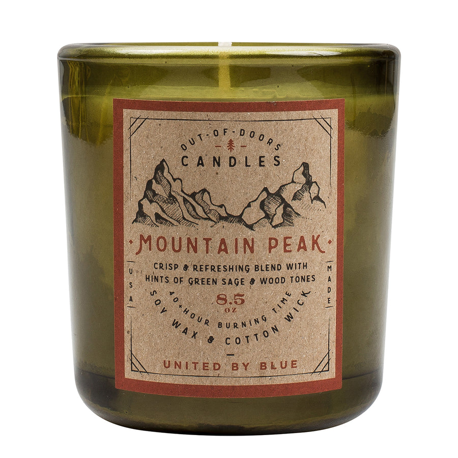 United By Blue 8.5 oz. Mountain Peak Out-of-Doors Candle
