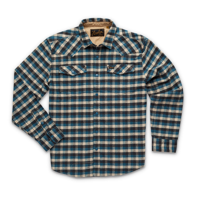Howler Brothers Stockman Stretch Snapshirt - Pilgrim Plaid