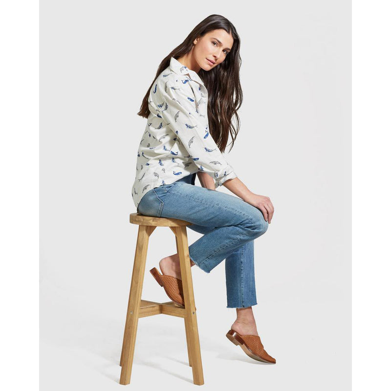 United By Blue Women's Natural Button Down - Final Sale
