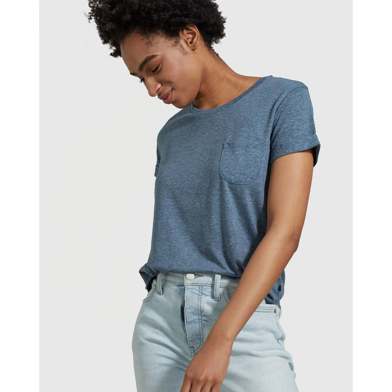 United By Blue Women's EcoKnit Pocket Tee