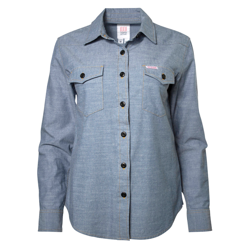 Topo Designs Women's Mountain Shirt - Chambray - Sale