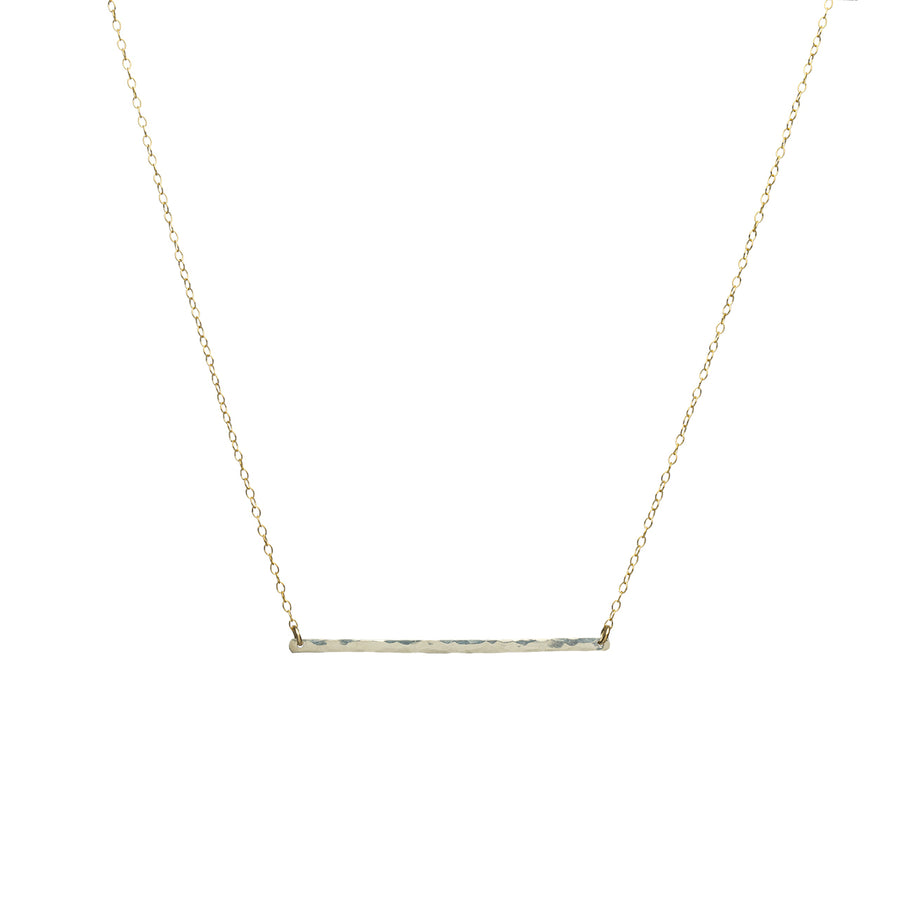 Treisi Hand-Hammered Sterling Bar Necklace