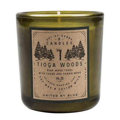 United By Blue 8.5 oz. Tioga Woods Out-of-Doors Candle