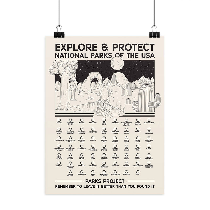 Parks Project All National Parks Fill-In Poster