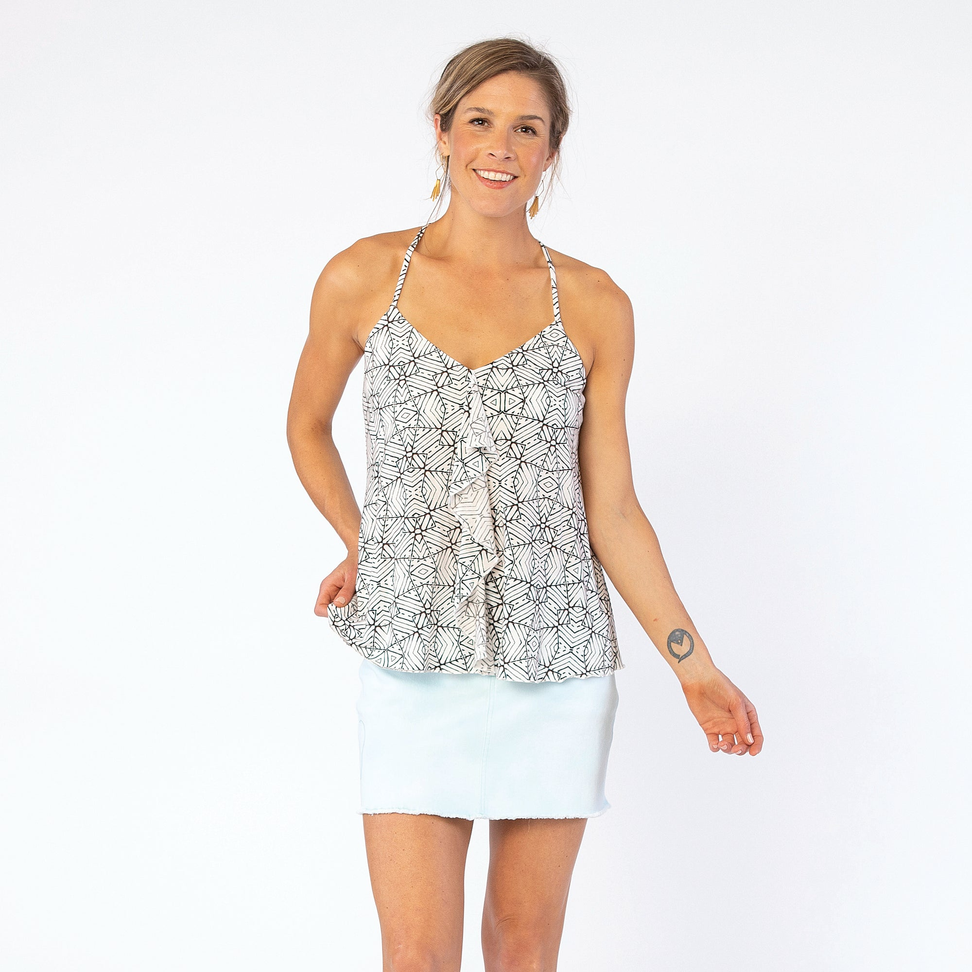 Carve Designs Brandi Tank - White Tile Sale