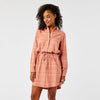 Carve Designs Aida Dress - Red Rock Stripe